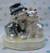 "WhimsiClay cat couple ""Wedded Bliss""...+ free ""Gratitude"" cat ($18 value"
