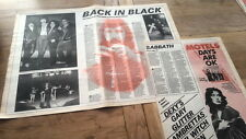 BLACK SABBATH w DIO back in black 1980 3 page UK ARTICLE / clipping