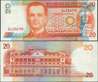 Philippines 20 Piso. NEUF ND (1997) Billet de banque Cat# P.182a