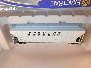 ExactRail Platinum HO Scoular 50' PS-2CD 4427 CuFt Hopper Lt. Gray #TLDX 1215