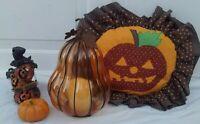 Halloween Pumpkins Jack O' Lantern Pillow Votives  JUNK DRAWER COLLECTION JOL