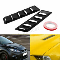 Pair For Ford Mustang Bonnet Hood Vent Louver Cooling Panel Trim Matte Black ABS
