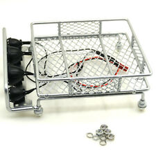 Metal Luggage Roof Rack w/ led light bar for 1/10 RC Crawlers RC4WD D90 Axial