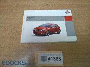Manual de Instrucciones Servicio Manual Inglés Opel Corsa D Opel