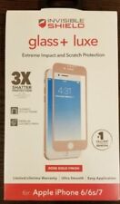 GLASS+ luxe Screen Protector for iPhone 8,7,6/6s ZAGG InvisibleShield ROSE GOLD