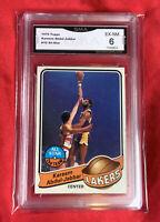 EX-Near Mint 6: 1979 Kareem Abdul-Jabbar, Topps All Star #10, LA Lakers