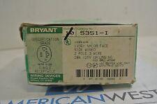 Bryant 5351-I 2P 3W IVORY SINGLE RECEPTACLE - NEW BOX OF 7