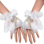 Steampunk Wrist Cuff Handcuff Lace Cuffs With Bowknot Tulle Costume Victorian