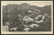 India. Uttarakhand. Mussoorie. Library Bazar & Vicent Hill, General View. Old PC