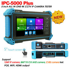 "IPC-5000 Plus 5"" Screen 4K CCTV Camera Tester IPC AHD CVI TVI Test POE WIFI HDMI"