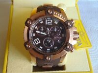 Invicta Reserve 48mm Octane Swiss Made Chronograph 18K IP Rose Gold SS Watch