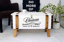Shabby Chic Vintage Frachtkiste Holzkiste Truhe Couchtisch Landhaus Coffeetable
