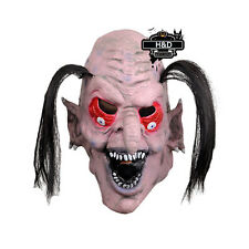 Scary Witch Latex Mask Monsters Red Eye Black Hair Halloween Costume Fancy Dress