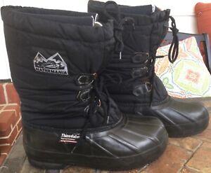NATURMANIA Snowmobile Mens Boots Thinsulate Thermal Insulation No Slip Sz 9