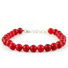 Red Ruby Round Shaped Beads Bracelet Best Quality 127.00 Cts Earth Mined Rich