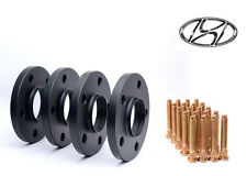 4pc 15mm Black Hubcentric 5x114.3 Wheel Spacers for Hyundai with 20 Knurl Stud