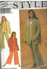2410 UNCUT Style SEWING Pattern Misses 8 10 12 14 16 18 Jacket Pants Vest OOP FF