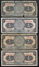 4 World Currency 1957 59 65 & 67 Mexico 1 Peso P 59a & P 59f P 59i & P 59j