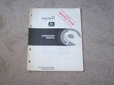John Deere 172 Rotary Mower Serial # 525,001 And Up Operators Manual  Used  B5