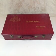 Vintage 1960 Bar Mitzvah Box for Slide Storage Personalized Red w Gold Lettering