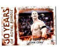 WWE John Cena RR-17 2018 Topps Undisputed Orange Parallel Card SN 94 of 99