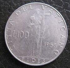 100 Lire 1958 FIDES Città del Vaticano Pio XII - n. 1065