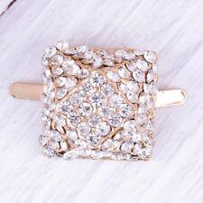 1PC square rhinestone shoe clips women bridal prom shoes buckle decor FT