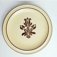 "Pfaltzgraff Village Pattern Dinner Plate (One) - 10 1/2""- Made in USA- Brown"