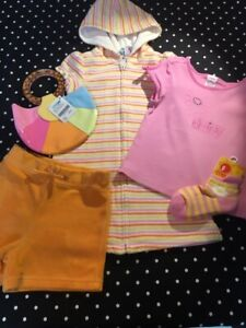 Vintage Gymboree top tee Sunshine Daydreams swim coverup shorts socks 3 purse NW