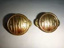 Lot Of 2 US Military HMS Metal Badges By NS MEYER Inc New York