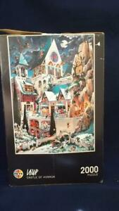 HEYE 2000 PIECE CASTLE OF HORROR JIGSAW COMPLETE WITH LARGE POSTER