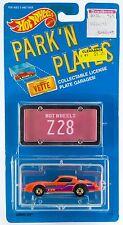 Hot Wheels Park 'N Plates Camaro Z28 Orange New On Card 1988