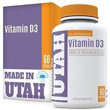 Suplemento Dietario En Cápsulas De Vitamina D3 5000 IU Salud Dental Huesos Piel