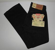 VINTAGE NOS LEVI'S 555 BOOTCUT Button Fly Denim Black Jeans W28 L30 SPAIN 1990's