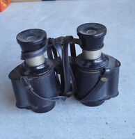 Vintage Airguide 3x No 27 USA Made Binoculars with Strap