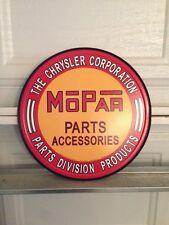 Mopar Parts Hemi Chrysler 11.5x11.5 Round Tin Sign Garage Mancave Buy 3 1 Free