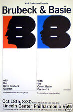 DAVE BRUBECK / COUNT BASIE concert poster 1964 by MILTON GLASER rolled