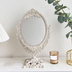Desktop Mirror Vanity Rotatable Cosmetic Makeup Mirror with Stand Mirror
