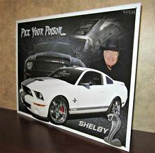 Classic Ford Mustang GT 500 Shelby Cobra Chrome Wheels Metal Picture Poster Sign