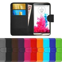 Premium Luxury Leather Flip Wallet Book Ultra Slim Pouch Case Cover For LG G3