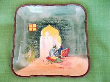 "Vintage Royal Doulton England ""Moorish Gateway"" Hp Square Plate"