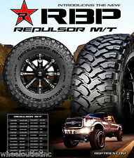 4 New LT 33x12.50R20 RBP Repulsor MT Tires 33 12.50 20 LRE Offroad Mud R20