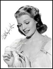Rita Hayworth, Autographed, Pure Cotton Canvas Image. Limited Edition (RH-1) x
