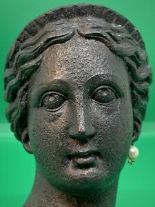 """Head of VENUS with Earing Resin Copy of Ancient Roman Bronze Statue - around 5"""""""