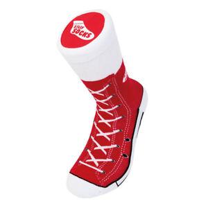 NEW Unisex Red Sneaker Print Socks Adult Size 5-11