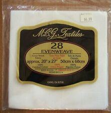 Mcg Textiles Counted Cross Stitch Fabric White 28 Evenweave 20x27 Combed Cotton