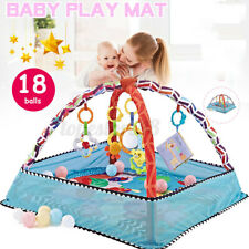 80CM Baby Play Gym Mat Activity Toddler Soft Balls Musical Playmat Crawl Floor