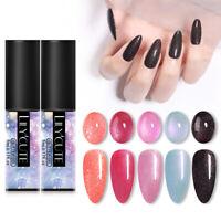 LILYCUTE 5ml Nail Glitter Pailletten UV Gel Nagellack Tränken Nail Art Gellack