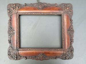 """Antique ornate wooden picture frame - 12 3/8"""" x 10 3/4"""""""