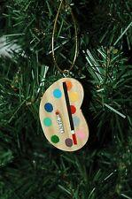 Art, Artist Palette Christmas Ornament